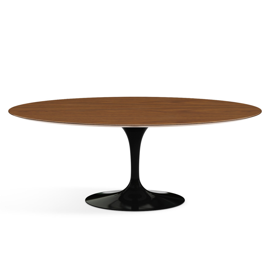 KNOLL oval table TULIP Eero Saarinen\'s collection 198x121cm (Black ...
