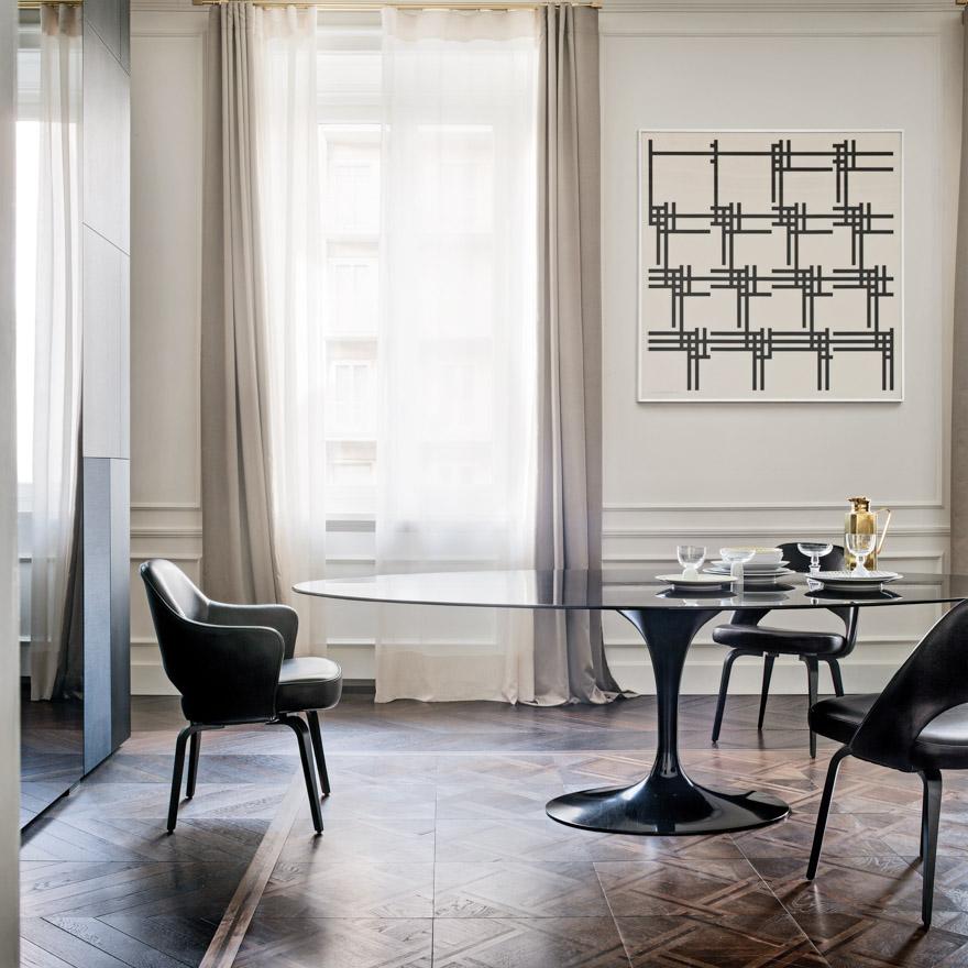 KNOLL tavolo ovale alto TULIP collezione Eero Saarinen ...