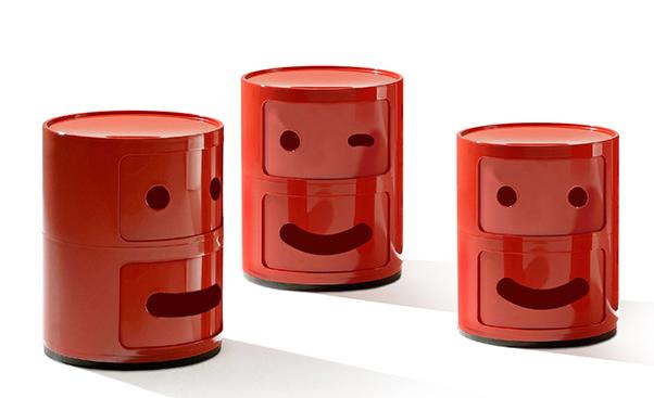 Kartell Table De Chevet Componibili Smile Design De Fabio Novembre
