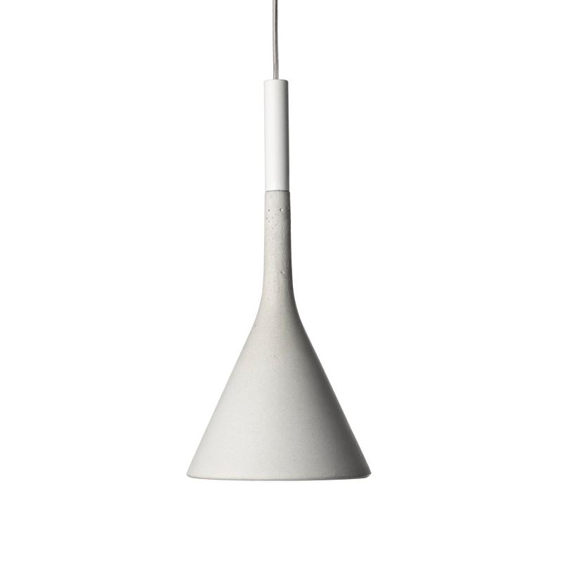 FOSCARINI lampada a sospensione APLOMB a LED (Bianco - Cemento e alluminio) - MyAreaDesign.it