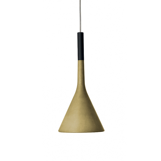 FOSCARINI lampada a sospensione APLOMB a LED (Giallo - Cemento e alluminio)