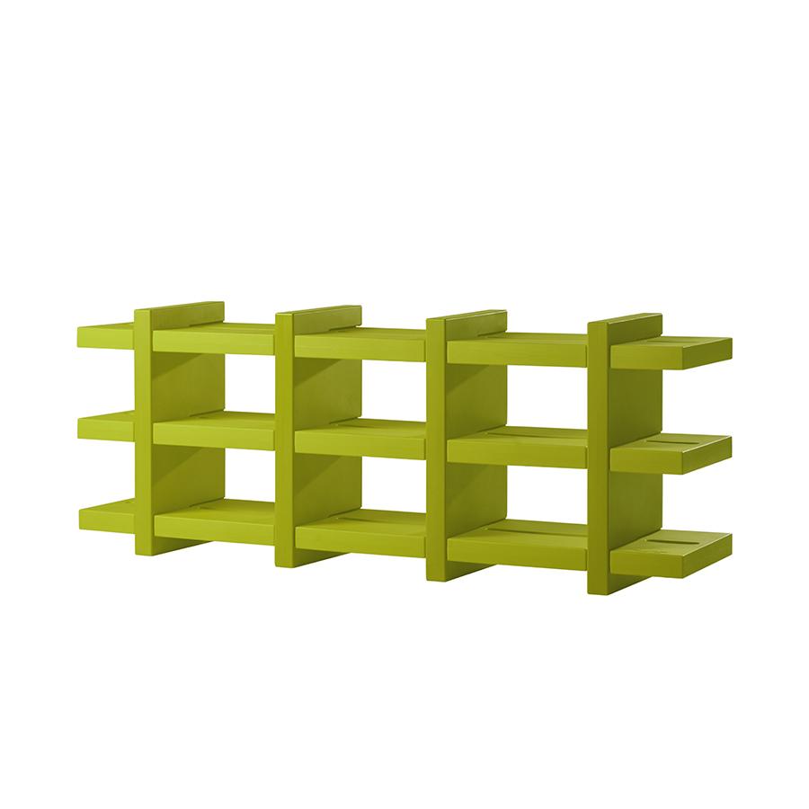 Slide libreria autoportante booky 4 verde lime polietilene - Libreria verde ...