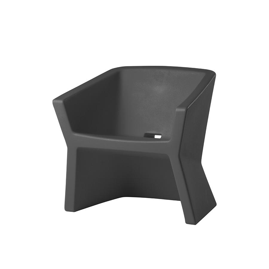 EXOFAGris fauteuil SLIDE EXOFAGris fauteuil Polyéthylène SLIDE PuOkXZi