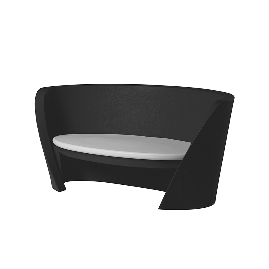 Slide sofa rap black polyethylene for Sofa 500 euro