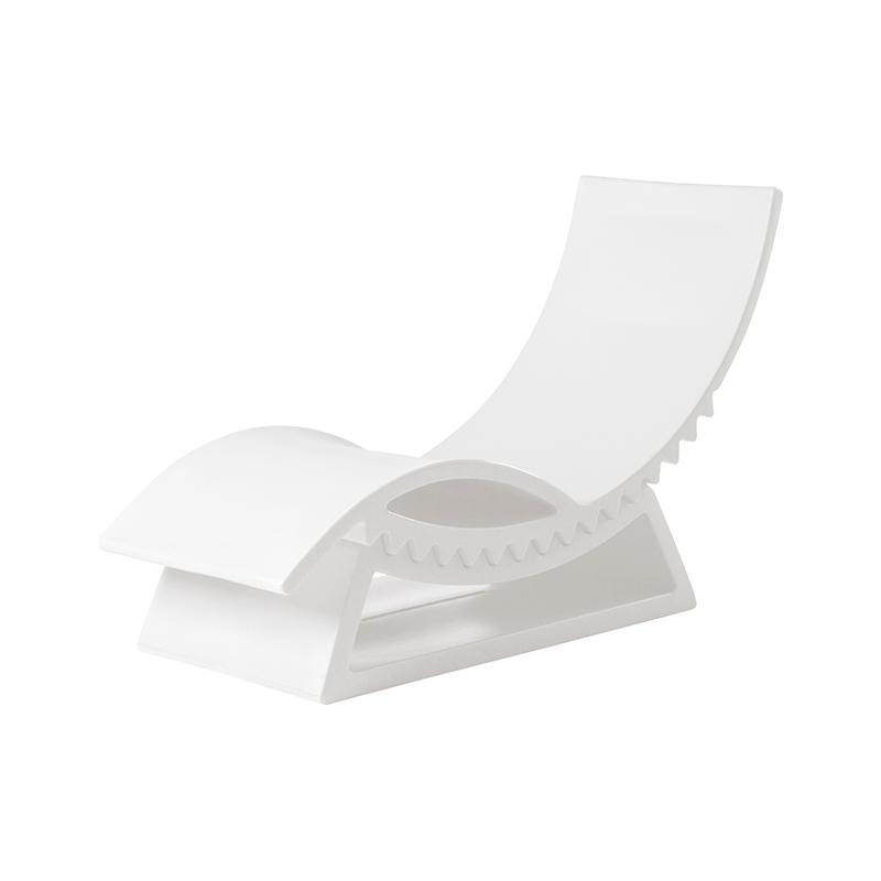 SLIDE chaise soleil Polyéthylène bain de lait TIC TACBlanc longue 34ALq5jR