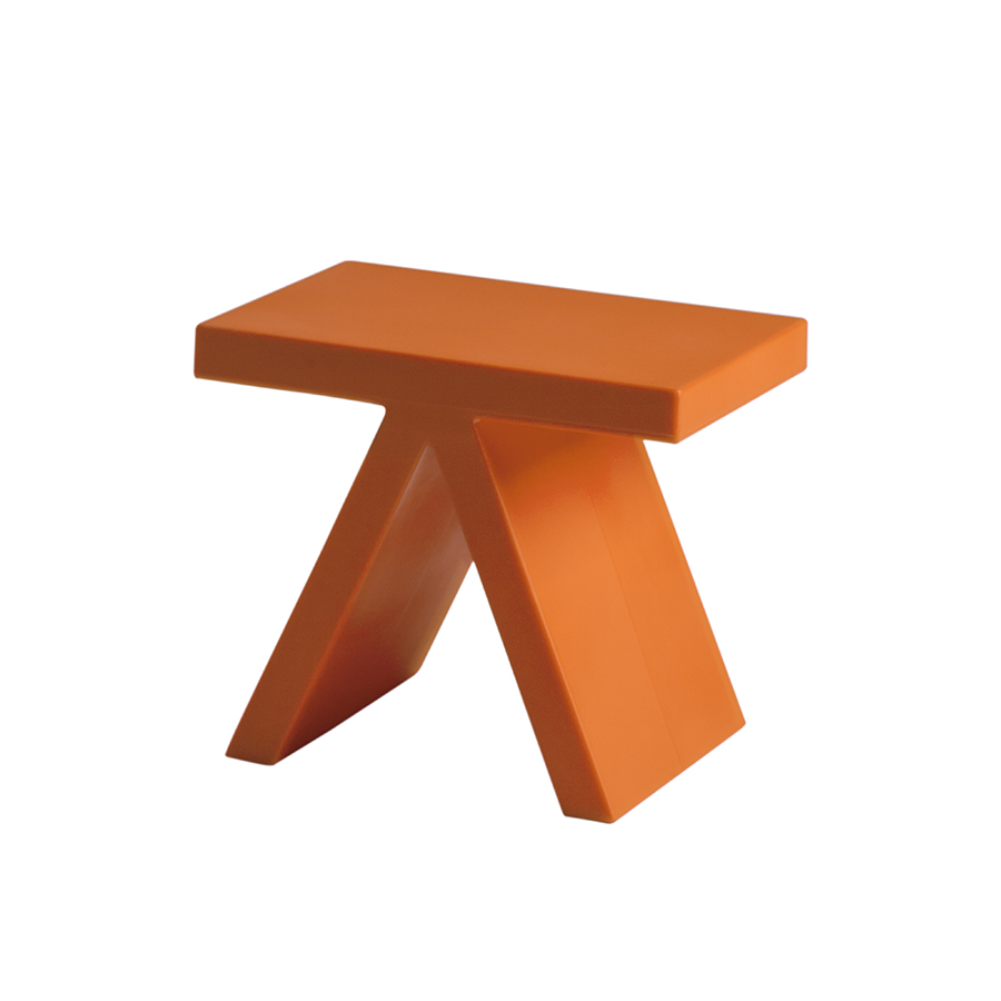 Slide table basse toy orange poly thyl ne for Table basse orange