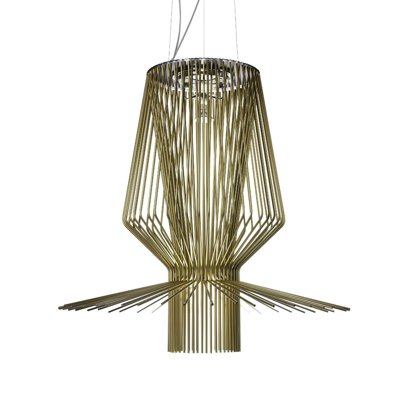 FOSCARINI lampada a sospensione ALLEGRO a LED (Assai oro - Alluminio ...