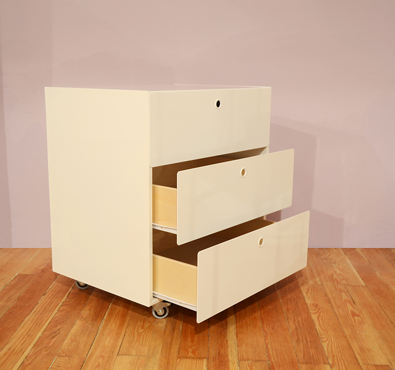 KRIPTONITE container on wheels with 3 drawers W 75,5 cm