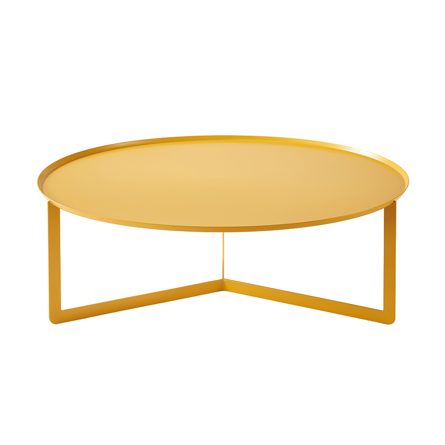 Meme Design Table Basse Round 5 Jaune Maya Métal