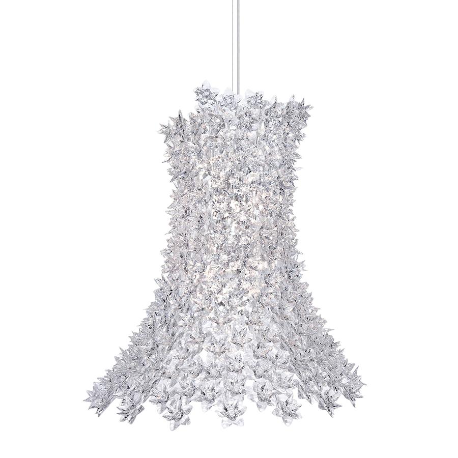 Kartell Suspension Lamp Bloom Crystal Transparent Polycarbonate