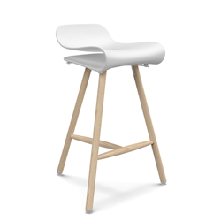 KRISTALIA BCN stool on wood base
