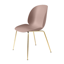 GUBI set of 4 chairs BEETLE DINING CHAIR with brass base