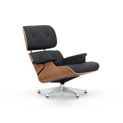 VITRA armchair black leather LOUNGE CHAIR new dimensions