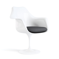 KNOLL swivel armchair with cushion TULIP