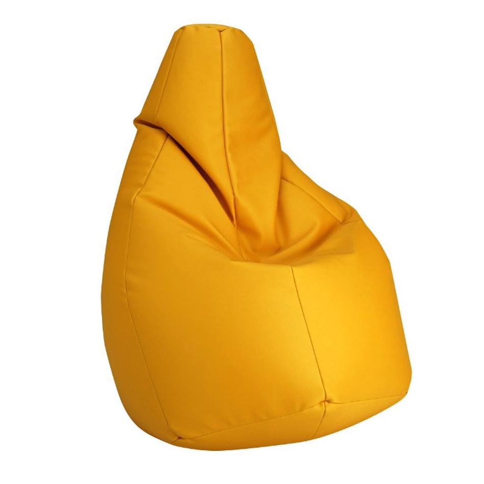 Zanotta poltrona anatomica sacco giallo ecopelle vip for Poltrona a sacco zanotta