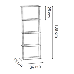 KRIPTONITE wall bookcases KROSSING 34 x H 100 cm