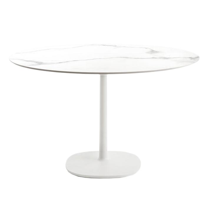 Tavolo Cucina Kartell.Kartell Tavolo Multiplo Con Piano Tondo O 118 Cm E Base Quadrata Grande