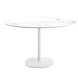 KARTELL table MULTIPLO with round top Ø 118 cms and large square base