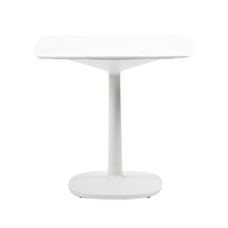 KARTELL table MULTIPLO with rounded square top 99 cm and large square base