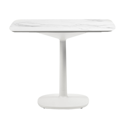 KARTELL table MULTIPLO with rounded square top 118 cm and large square base