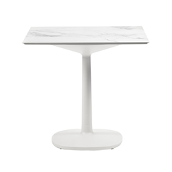 KARTELL table MULTIPLO with square top 118 cm and large square base