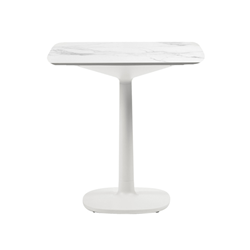 KARTELL table MULTIPLO with rounded square top 78 cm and small square base
