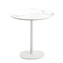 KARTELL table MULTIPLO with round top Ø 78 cms and small square base