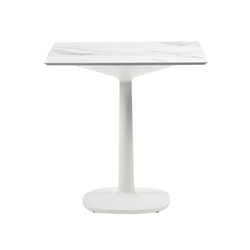KARTELL table MULTIPLO with square top 78 cm and small square base