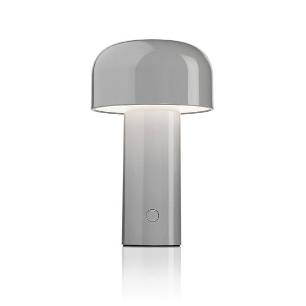 Flos Lampe De Table Sans Fil Rechargeable Bellhop Gris