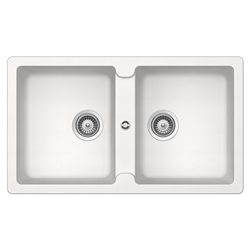 SCHOCK reversible sink with 2 bowls SIGNUS N200E