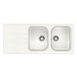 SCHOCK reversible sink with 2 bowls and drip LITHOS D200