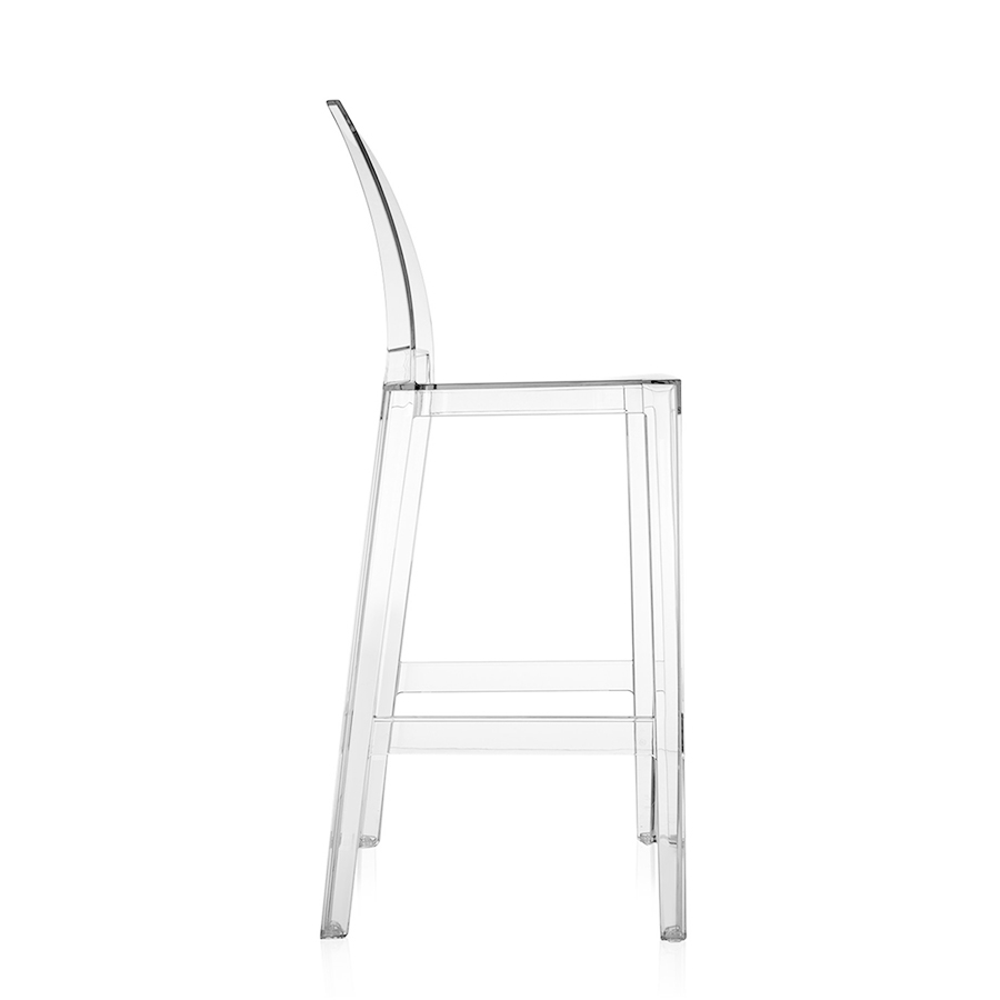 Sgabelli Kartell One More Prezzo.Kartell Set Of 2 Stools One More Please H 75 Cm Crystal