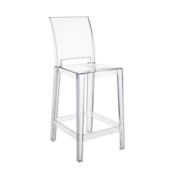 KARTELL set of 2 stools ONE MORE PLEASE H 65 cm