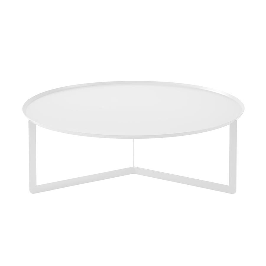 table basse blanc metal