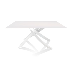 BONTEMPI CASA table with white frame ARTISTICO 20.13 160x90 cm