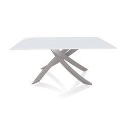 BONTEMPI CASA table with light grey frame ARTISTICO 20.13 160x90 cm