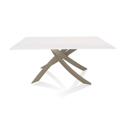BONTEMPI CASA table with sand frame ARTISTICO 20.13 160x90 cm