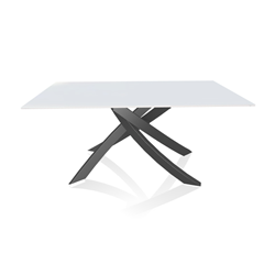 BONTEMPI CASA table with anthracite frame ARTISTICO 20.13 160x90 cm