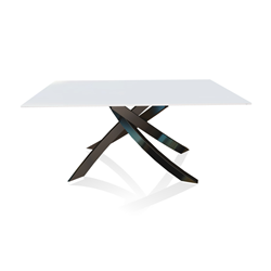 BONTEMPI CASA table with glossy black frame ARTISTICO 20.13 160x90 cm