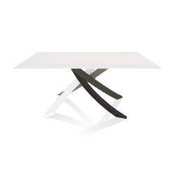 BONTEMPI CASA table with multicolor elegant frame ARTISTICO 20.13 160x90 cm
