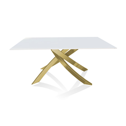 BONTEMPI CASA table with gold frame ARTISTICO 20.13 160x90 cm