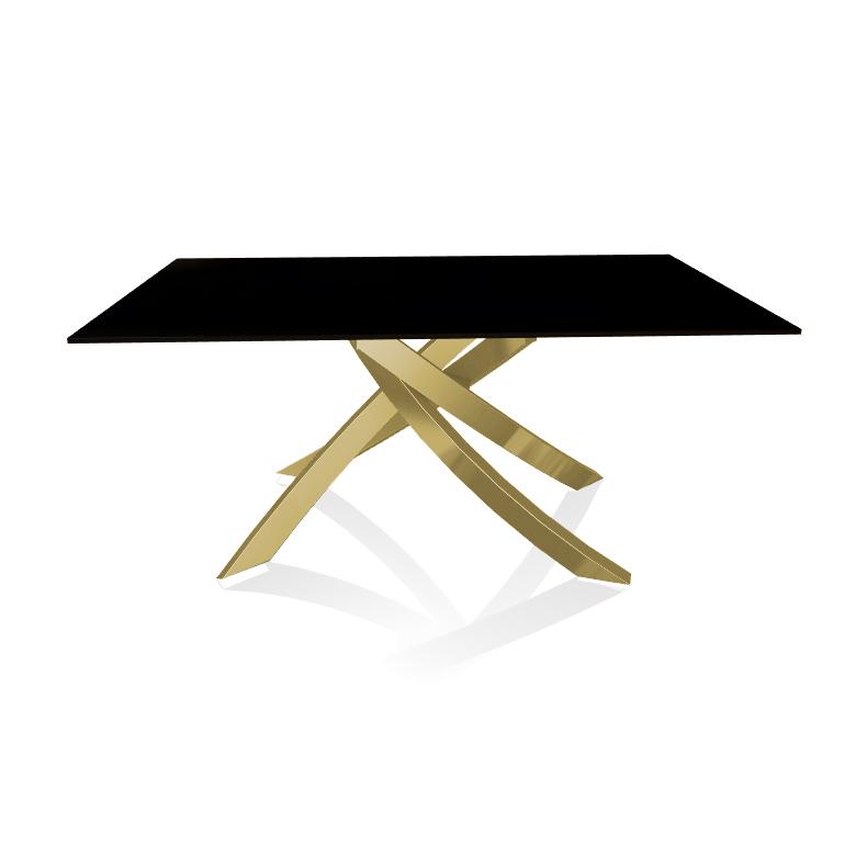 Bontempi Casa Table With Gold Frame Artistico 20 13 160x90 Cm