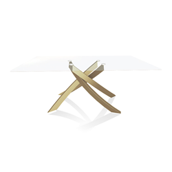 BONTEMPI CASA table with gold frame ARTISTICO 20.00 180x106 cm