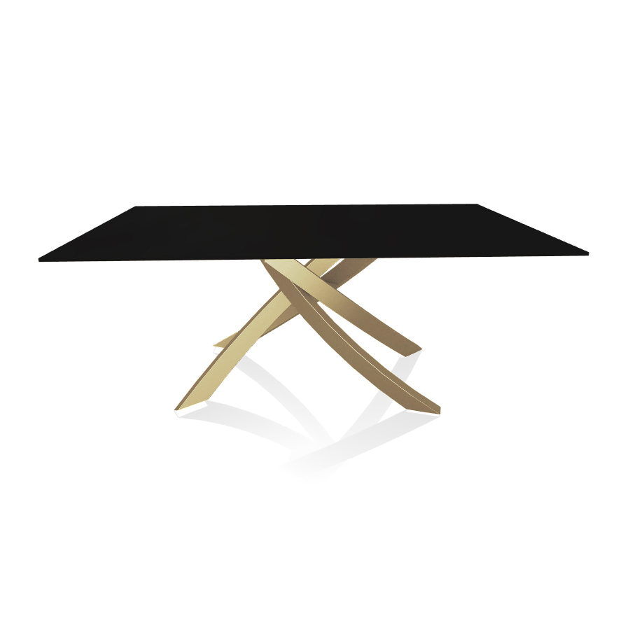 Bontempi Casa Table With Gold Frame Artistico 20 00 180x106 Cm