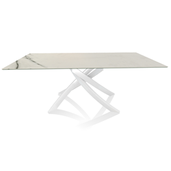 BONTEMPI CASA table with white frame ARTISTICO 52.45 200x100 cm