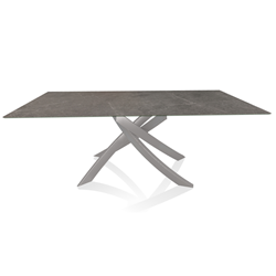 BONTEMPI CASA table with light grey frame ARTISTICO 52.45 200x100 cm
