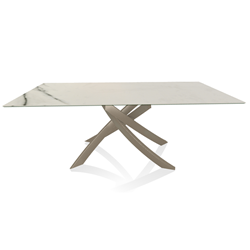 BONTEMPI CASA table with sand frame ARTISTICO 52.45 200x100 cm