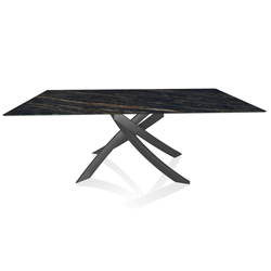 BONTEMPI CASA table with anthracite frame ARTISTICO 52.45 200x100 cm