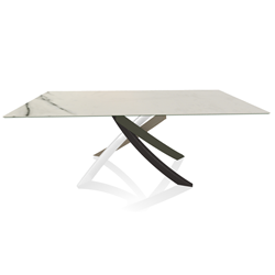 BONTEMPI CASA table with multicolor elegant frame ARTISTICO 52.45 200x100 cm