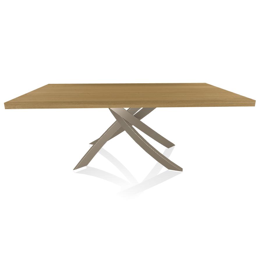 Tavolo Legno Rovere Naturale.Bontempi Casa Tavolo Con Struttura Sabbia Artistico 20 01 200x106